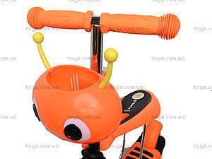 Детский самокат с корзиной, BT-KS-0057, toys.com.ua