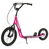 Самокат с надувными колесами (розовый), MX20204, фото