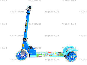 Детский самокат с подсветкой колес, 627  466-34, цена