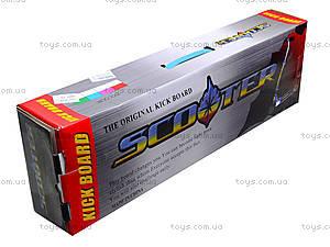 Самокат металлический с ручным тормозом, 628 С  466-36, игрушки