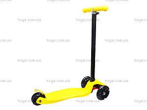 Самокат детский пластмассовый с большими колесами, 003  466-667 А, купить