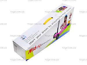 Самокат детский пластмассовый с большими колесами, 003  466-667 А, фото