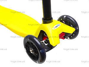 Самокат детский пластмассовый с большими колесами, 003  466-667 А, отзывы