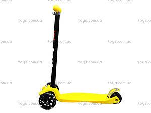 Самокат детский пластмассовый с большими колесами, 003  466-667 А, цена