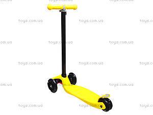 Самокат детский пластмассовый с большими колесами, 003  466-667 А, игрушки