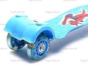 Самокат с тремя колесами Бен10, JP-T6015, детские игрушки