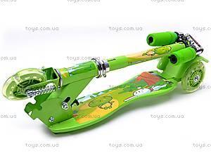 Самокат трехколесный для девочек, YJ-248, купить