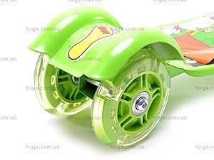 Самокат трехколесный для девочек, YJ-248, игрушки