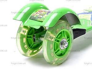 Самокат трехколесный с героем Бен10, YJ-250, детские игрушки