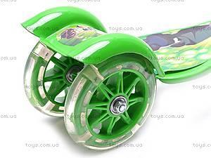 Самокат трехколесный со световым эффектом, JP-BT6103, игрушки