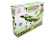 Самолет детский музыкальный Ben 10, 58522, отзывы