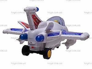 Самолет детский со световыми эффектами, 819, фото