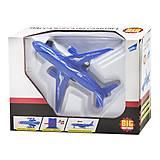 Самолет инерционный синий, F1611, цена