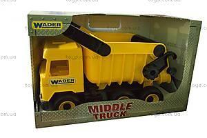 Самосвал Middle Truck, желтый, 39490