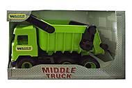 Самосвал зеленый Middle Truck, 39482, отзывы
