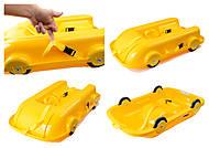Санки Фламинго с колесами, желтые, 065503, детские игрушки