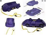 Санки Фламинго с колесами, синие , 065504, детские игрушки