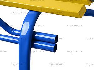Санки «Комета Патриот», желто-голубые, 7270, купить