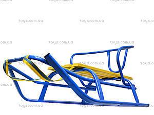 Санки «Комета Патриот», желто-голубые, 7270, toys