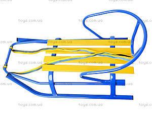Санки «Комета Патриот», желто-голубые, 7270, іграшки