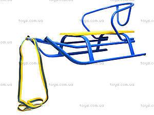 Санки «Комета Патриот», желто-голубые, 7270, набор