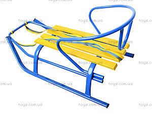 Санки «Комета Патриот», желто-голубые, 7270, купити