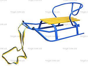 Санки «Комета Патриот», желто-голубые, 7270, игрушка