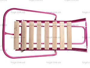Санки со спинкой, розовые, СД-2 РОЗОВ, фото