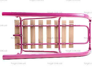 Санки со спинкой, розовые, СД-2 РОЗОВ, цена