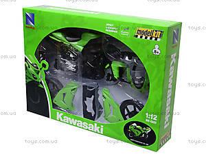 Сборная модель мотоцикла Kawasaki, 42445A, магазин игрушек