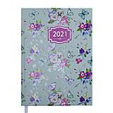 Ежедневник датированный 2021 Blossom А5 336 с. Бирюзовый, BM.2136-06, іграшки