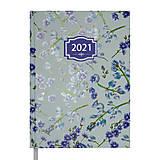 Ежедневник датированный 2021 Blossom A5 336 с. Голубой , BM.2136-14, toys