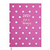 Ежедневник датировнный 2021 Elegant А5 Розовый 336 страниц, BM.2177-10, toys.com.ua
