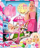 Набор с куклой и коляской «Семейная прогулка», 35087, магазин игрушек