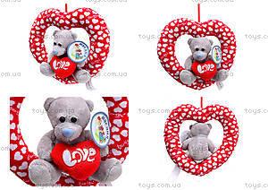Плюшевое сердце с медведем, AB9193A15