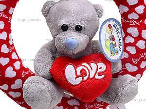 Плюшевое сердце с медведем, AB9193A15, отзывы