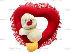 Мягкая игрушка «Сердечко с цыпленком», К086ТК