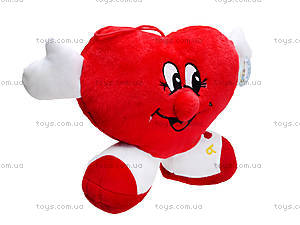 Плюшевая игрушка «Сердечко с ножками», F-F001121, фото
