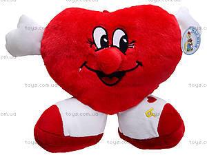 Плюшевая игрушка «Сердечко с ножками», F-F001121, цена