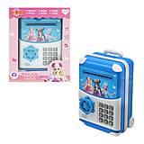 """Сейф для денег """"Принцессы"""" синий, WF3003YL, детские игрушки"""