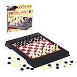Шахматы  2 в 1 магнитные в коробке, 3508, интернет магазин22 игрушки Украина