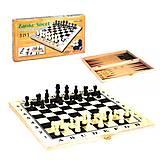 Шахматы деревянные 3 в 1 для досуга, C36817, детские игрушки