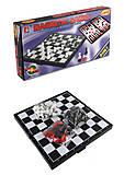 """Набор магнитных логических игр """"3 в1"""" шахматы, нарды и шашки, JH618-25"""