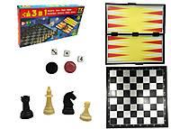 Шахматы магнитные для всей семьи, ТК16043, детский