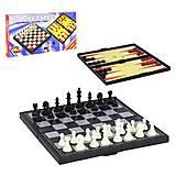 Шахматы пластиковые магнитные 3 в 1, С 36815, тойс