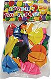 Шарики воздушные с перламутром, mix 50 штук, 701593, детский