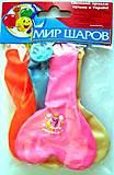 Набор воздушных шариков «Сердце», 5 штук, 100, toys.com.ua