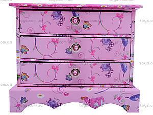 Шкатулка для девочки «Комод с ящиками», BT-C-046, фото