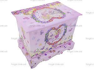 Шкатулка для девочки «Комод с ящиками», BT-C-046, детские игрушки