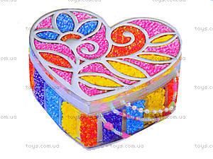 Шкатулка для украшений из бисера, 02712, детские игрушки